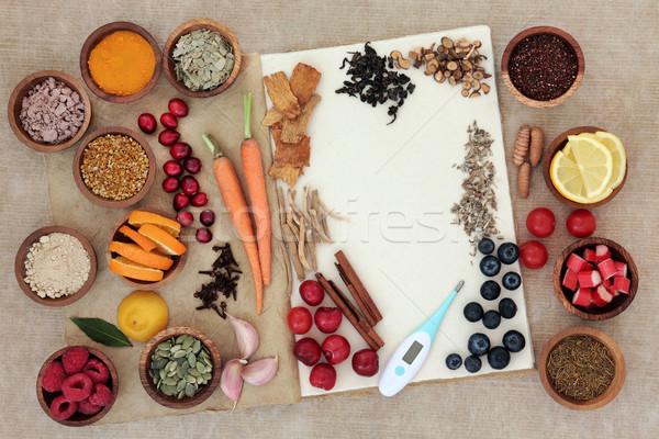 Alimentos alternativa frío curar gripe Foto stock © marilyna