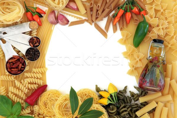 食品 国境 イタリア語 パスタ 地中海料理 材料 ストックフォト © marilyna