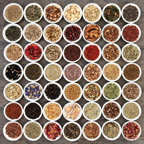 Zdjęcia stock: Herbata · ziołowa · kolekcja · herb · herbaty · biały