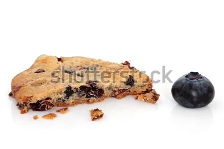 Verlockend Snack Heidelbeere Cookie beißen heraus Stock foto © marilyna