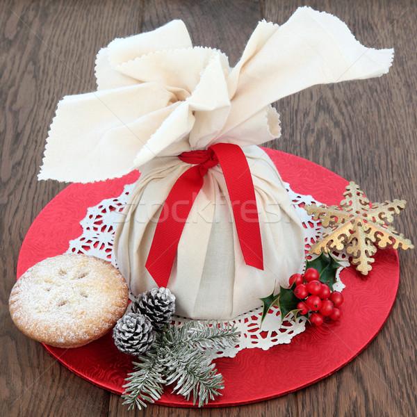 Рождества пироги пудинг сумку Сток-фото © marilyna