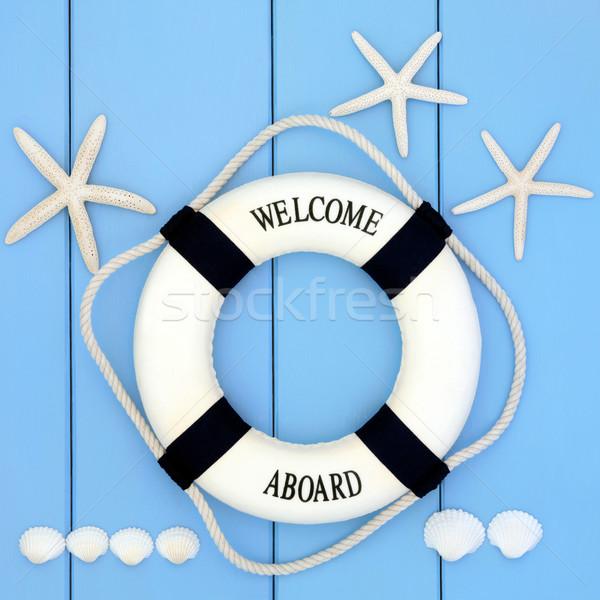 Seaside Lifebuoy  Stock photo © marilyna