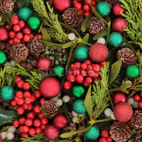 Stock photo:  Baubles and Flora