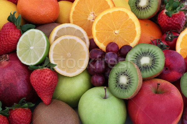 Healthy Fresh Fruit Selection Stock photo © marilyna