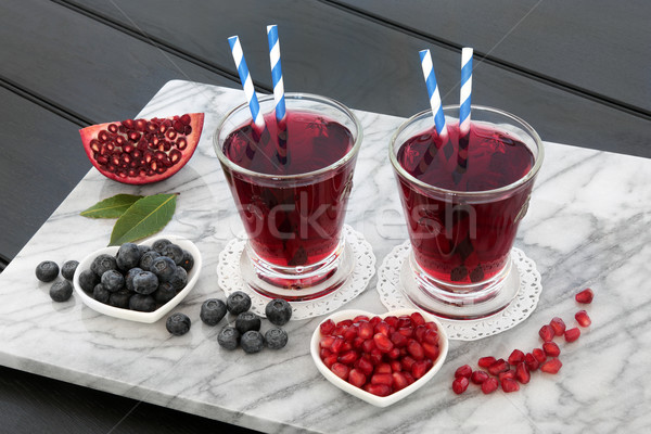 Blueberry and Pomegranate Juice Drink Stock photo © marilyna