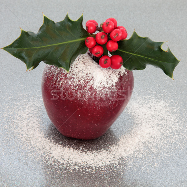 Festive Christmas Apple Stock photo © marilyna