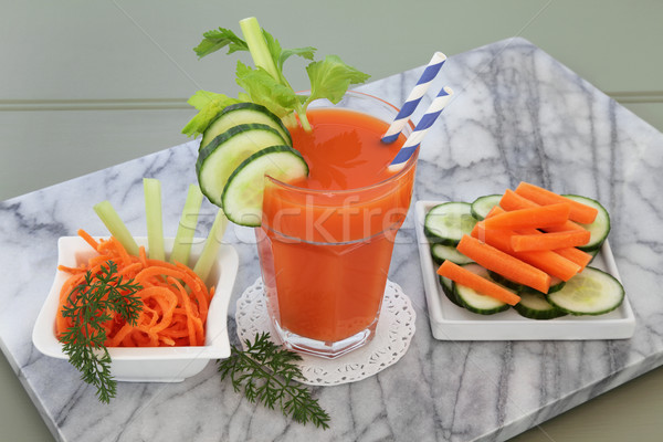 Carrot Celery and Cucumber Drink Stock photo © marilyna