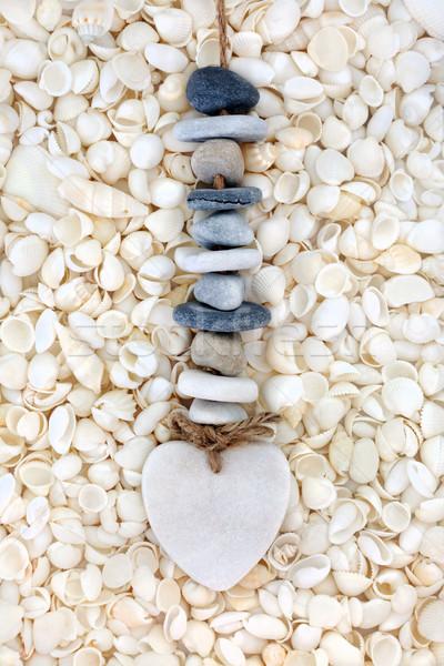 Amore conchiglia spiaggia cuore ciottolo mobile Foto d'archivio © marilyna