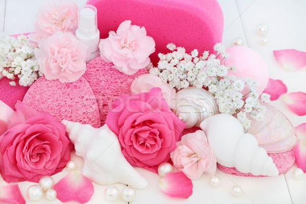 Spa productos rosa rosas clavel Foto stock © marilyna