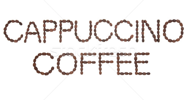 Cappuccino Coffee Sign Stock photo © marilyna