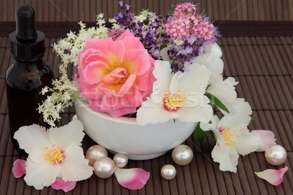 Aromaterapia tratamento tratamento de spa rosa lavanda flores Foto stock © marilyna