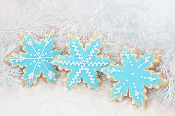 Fiocco di neve pan di zenzero biscotti lusso Natale neve Foto d'archivio © marilyna