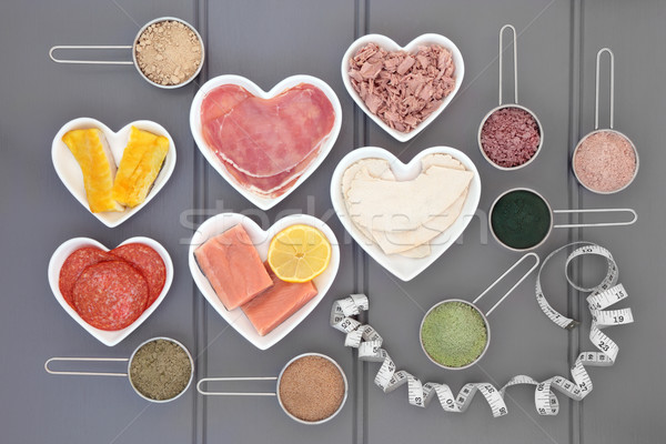 High Protein Food and Supplement Powders Stock photo © marilyna