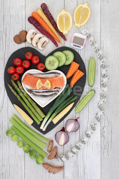 Gezonde voeding voedsel gezondheid dieet vers vis Stockfoto © marilyna
