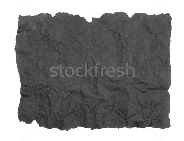 Szakadt szürke papírzsebkendő papír fehér Stock fotó © marilyna