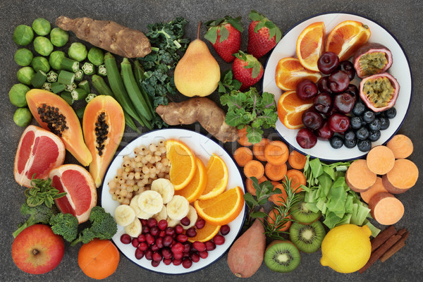 Stock photo: High Fiber Fruit and Vegetable Selection