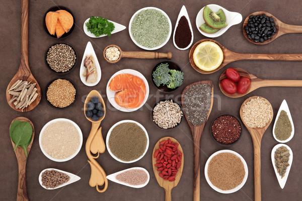 Super voedsel gezondheid kommen Stockfoto © marilyna