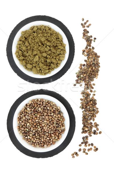 Hemp Seed and Powder Stock photo © marilyna
