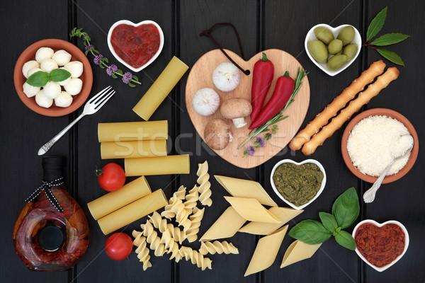 Healthy Italian Food Sampler Stock photo © marilyna