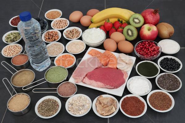 Santé alimentaire ensemble élevé protéines Photo stock © marilyna