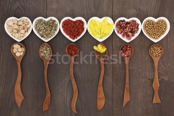Zdjęcia stock: Tradycyjny · chińczyk · herb · herbaty · serca