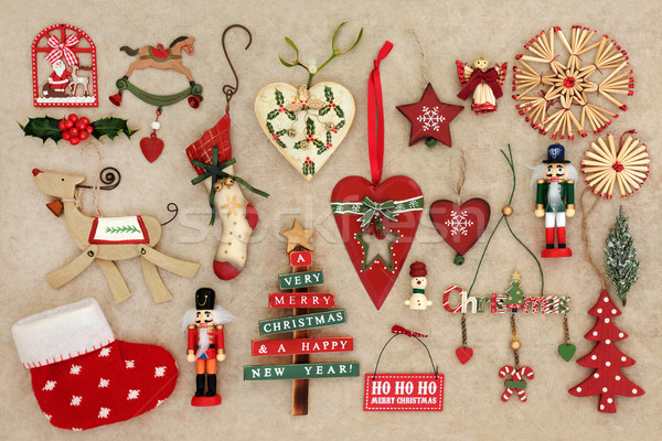 Old Fashioned Christmas Decorations Stock photo © marilyna