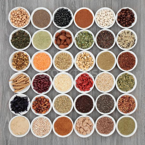 Secado dieta súper alimentos cereales Foto stock © marilyna