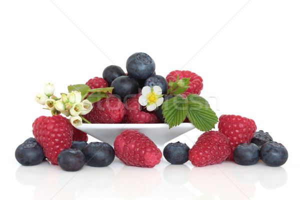 Blueberry and Raspberry Fruit Stock photo © marilyna