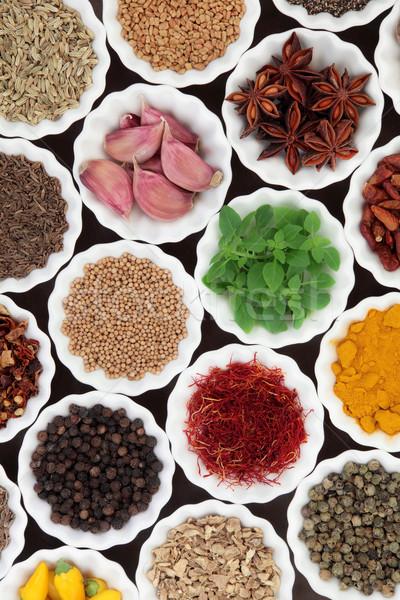 Stock fotó: Aromás · gyógynövények · fűszer · fűszer · gyógynövény · porcelán