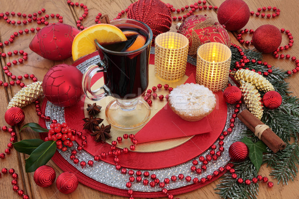 Mulled Wine at Christmas Stock photo © marilyna