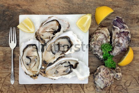 Fresh Oysters Stock photo © marilyna