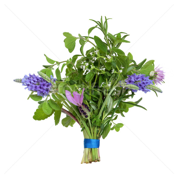 Stock photo: Flower and Herb Leaf Posy