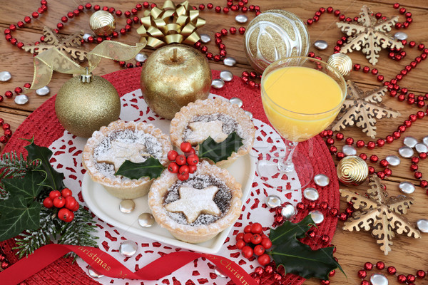 Mince Pies and Eggnog Stock photo © marilyna