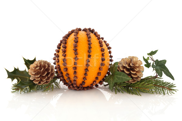Orange and Clove Pomander  Stock photo © marilyna