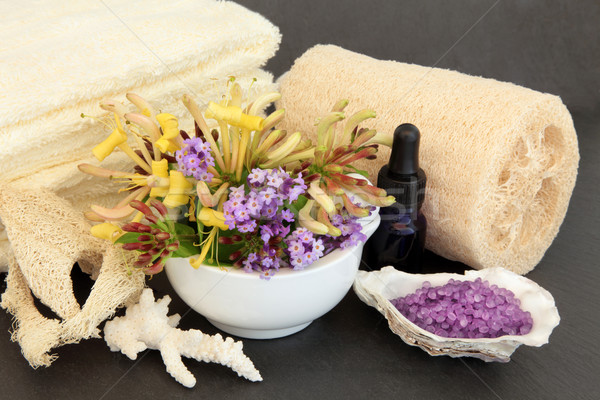 Stock photo: Lavender and Honeysuckle Spa