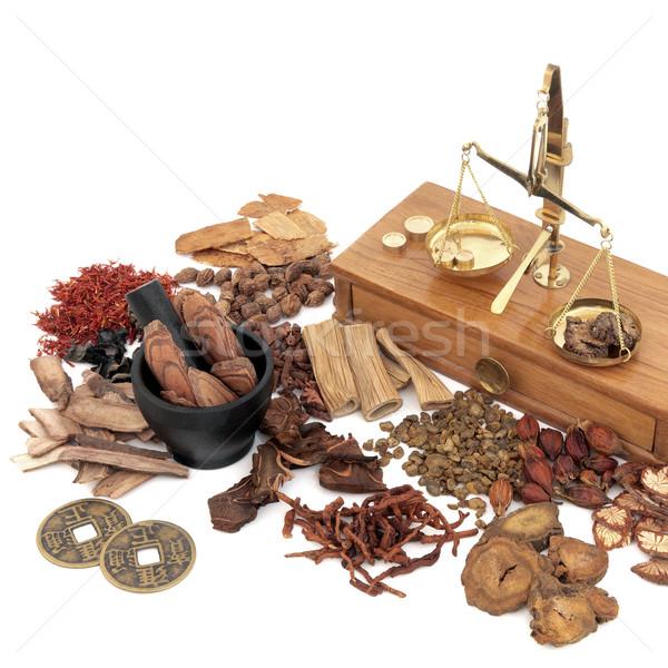 Tradizionale medicina cinese cinese erbe ingredienti usato Foto d'archivio © marilyna