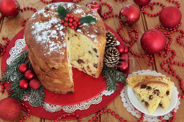 Italian Panettone Christmas Cake Stock photo © marilyna