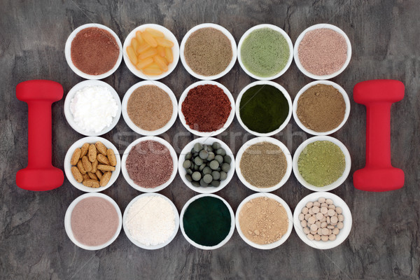 Food Supplements for Body Builders Stock photo © marilyna