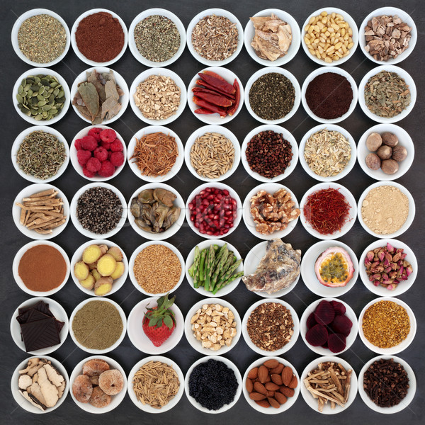 Nagy étel szexuális egészség porcelán tálak Stock fotó © marilyna