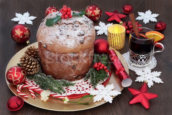 Italian Panettone Christmas Cake  Stock photo © marilyna