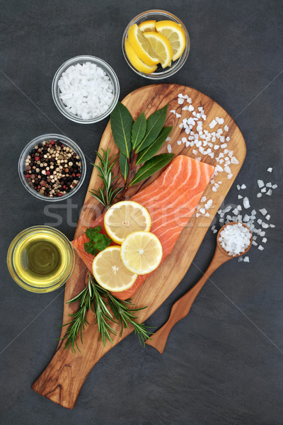 Salmon Fish for Healthy Eating Stock photo © marilyna