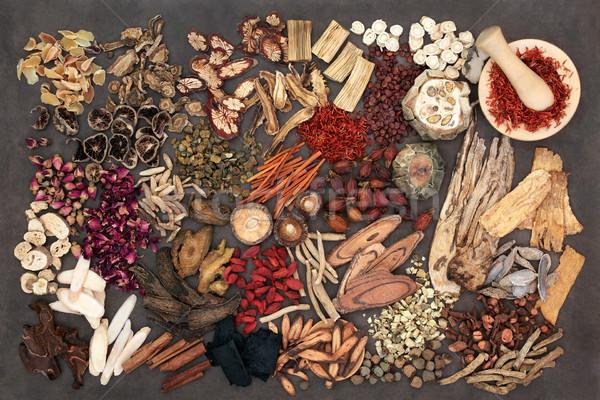 Hagyományos kínai gyógynövények használt alternatív gyógynövény Stock fotó © marilyna