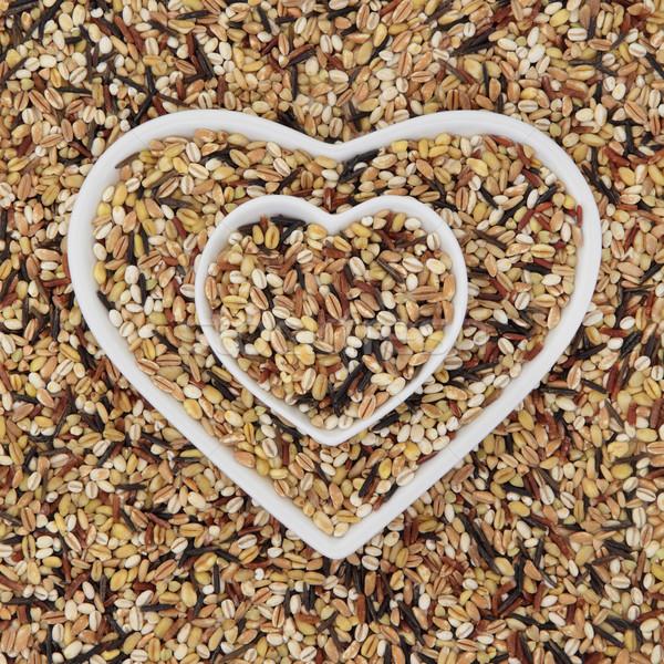 семь здорового зерна зерновых продовольствие Сток-фото © marilyna