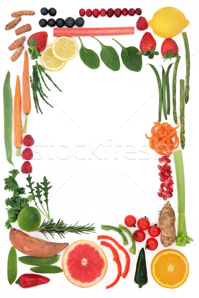 Paleo Diet Food Border Stock photo © marilyna