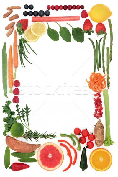 Paleo dieta comida fronteira saúde fruto Foto stock © marilyna