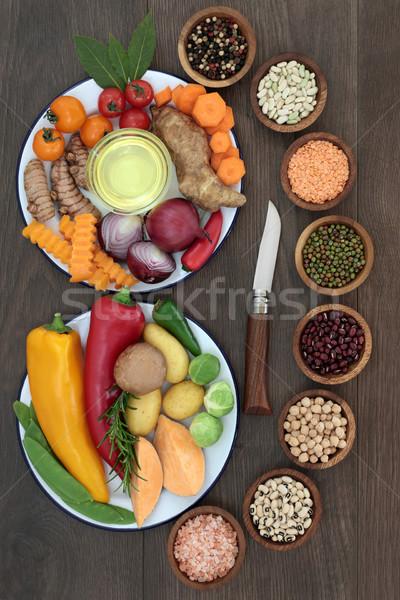 健康的な食事 食品 ハーブ スパイス 野菜 フルーツ ストックフォト © marilyna