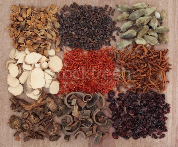 Chinês tradicional flor comida saúde Foto stock © marilyna
