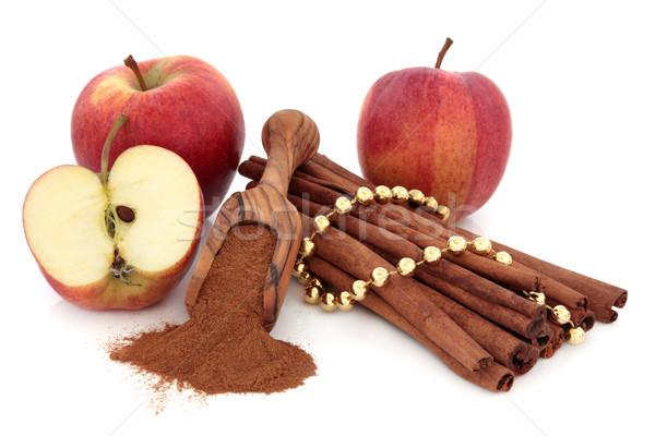 Kaneel Spice appels poeder gala appel Stockfoto © marilyna