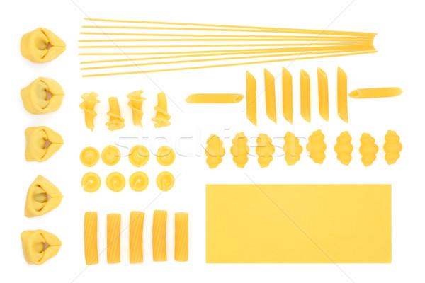 Italiana pasta raccolta alimentare spaghetti tortellini Foto d'archivio © marilyna