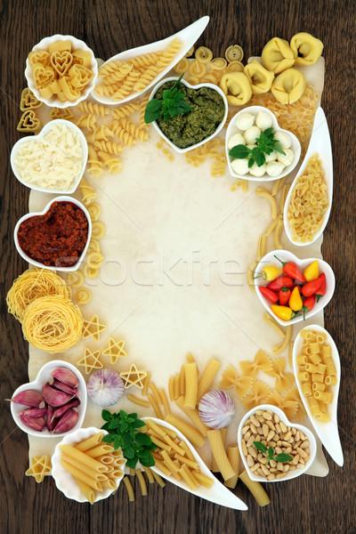のイタリア料理 材料 イタリア語 パスタ 地中海料理 抽象的な ストックフォト © marilyna